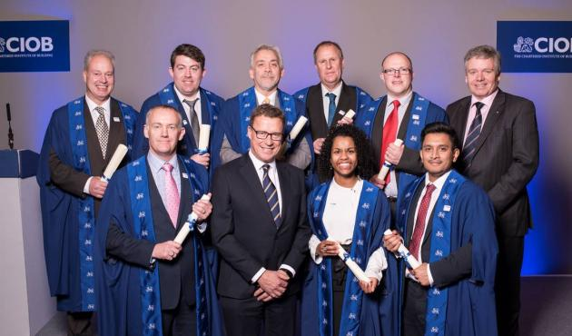I had the privilege to celebrate with eight of our team at their CIOB Graduation Ceremony in December, along with our Managing Director Malcolm Clarke.